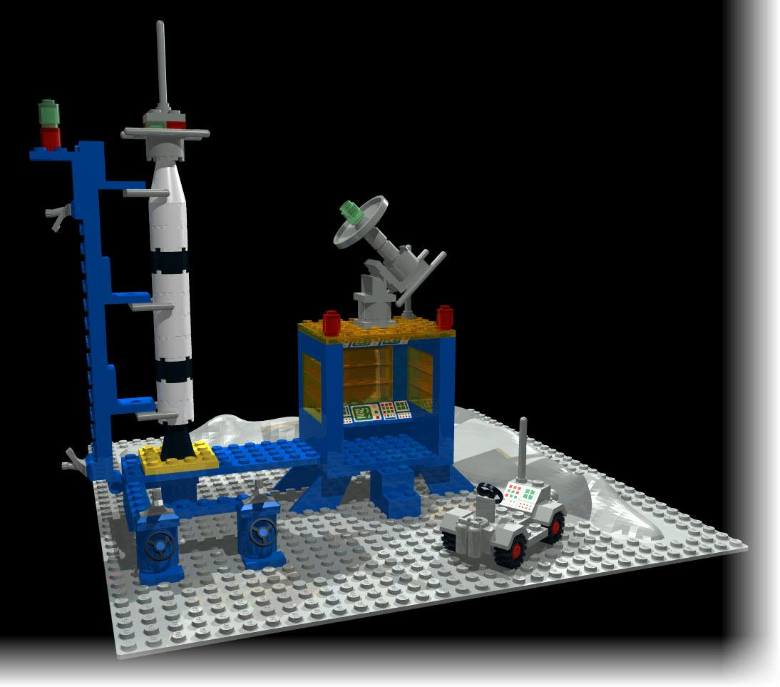 LEGO Set 483 using MLCad & POV-Ray | First Light