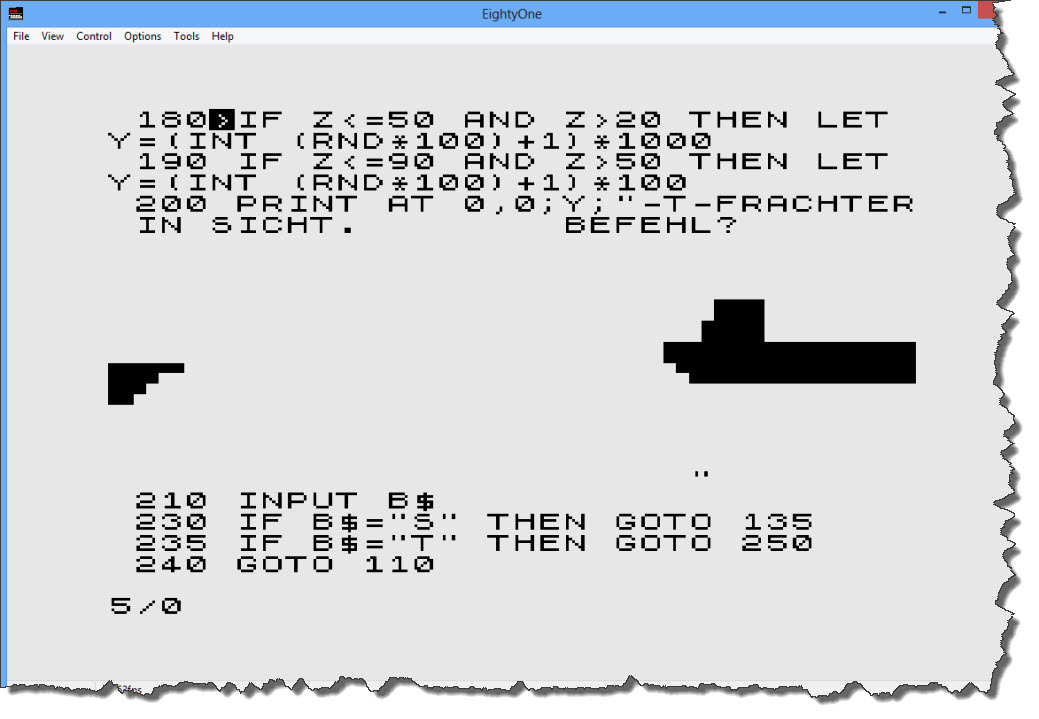 ZX81 - Code Listing 2