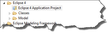 009 - Eclipse 4 Application Project