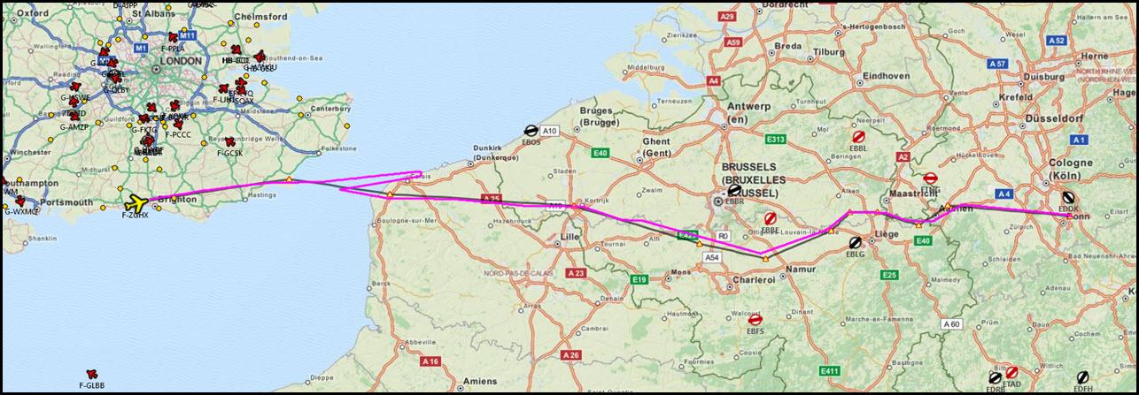 Image 21 - Route flown