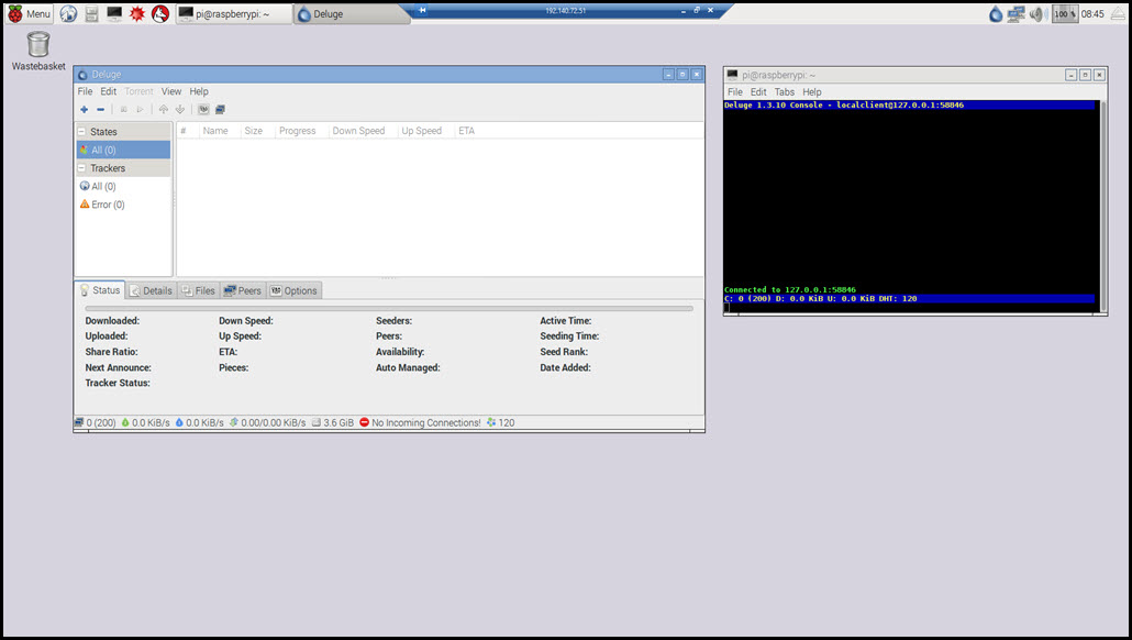 Image 15 - Deluge Client and Console on the Raspberry Pi